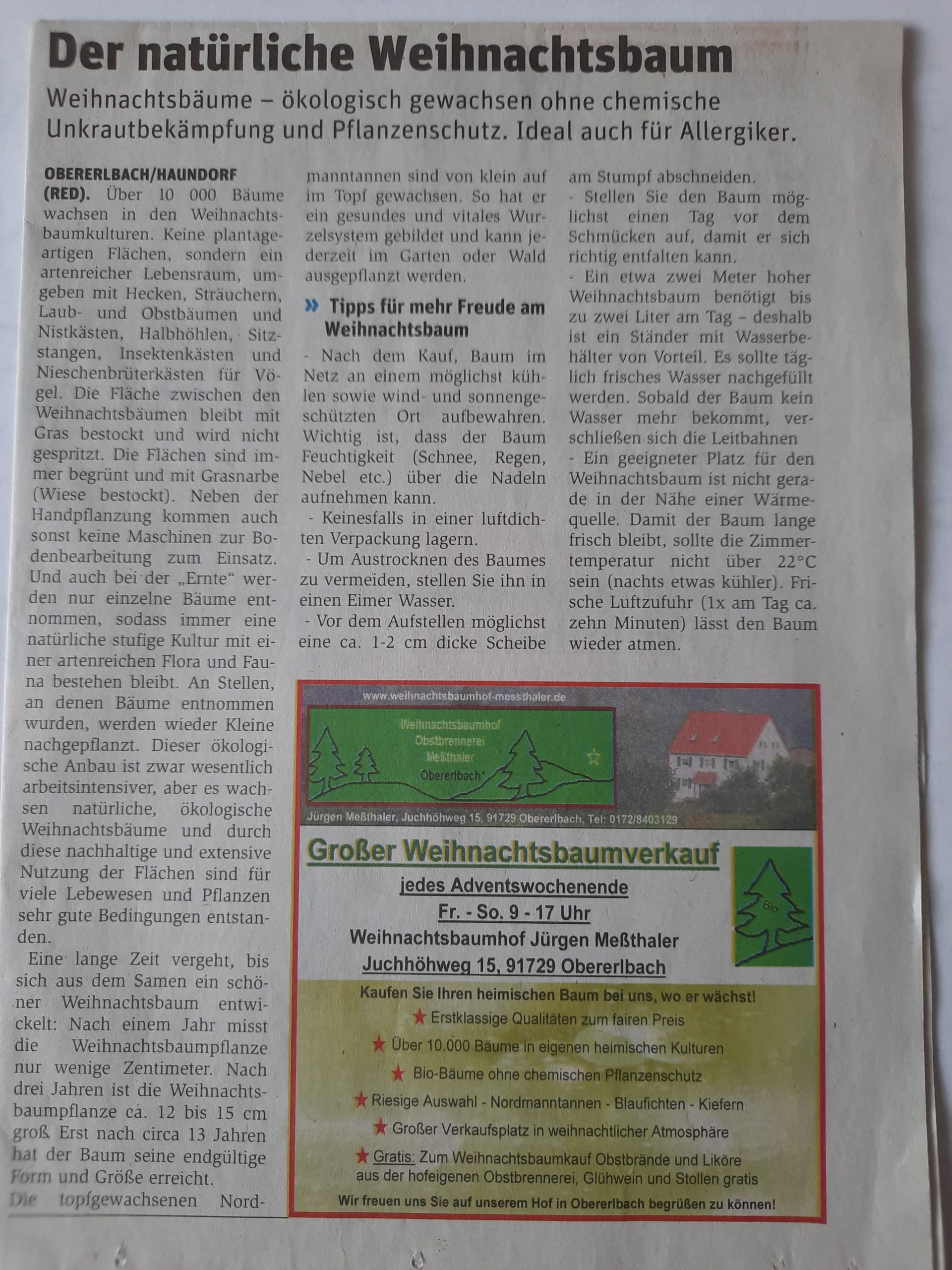 Zeitungsbericht WochenZeitung 27.11.2019
